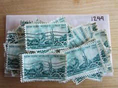 # 1244 5¢x 100 Used US Stamps Lot New York Worlds Fair Issue See our other lots