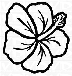 Hawaiian Flower Clip Art Black And White Clipart Panda