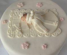 TOPPER de la torta de bautizo bebé niña por BabyCakesByJennifer