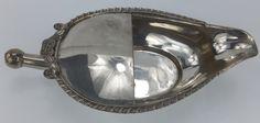 Solid Silver Infants Feeding Pap Boat. Hamilton Calcutta mark. C1820/30