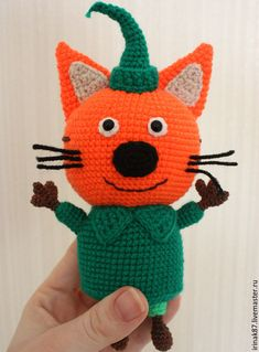 Seven-year-old Compot is the oldest child in the family. He is very inquisitive and well-read, a re Crochet Toys Patterns, Stuffed Toys Patterns, Crochet Hats, Easter Crochet, Crochet For Kids, Pet Toys, Doll Toys, Tutorial Amigurumi, Best Kids Toys