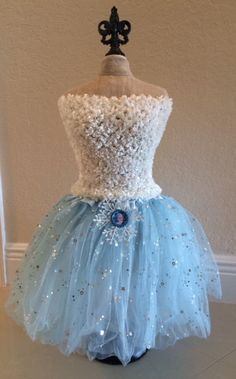 Frozen Costume Elsa Costume Frozen Dress Elsa by partiesandfun