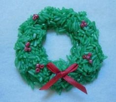 Rice Wreath Ornament - how to make a wreath ornament from rice If you are looking for an inexpensive craft, you have found it! Our wreath ornament made from rice is a great project for all ages Christmas Gifts For Parents, Kids Christmas Ornaments, Christmas Ornament Wreath, Holiday Crafts For Kids, Preschool Christmas, Ornament Crafts, Wreath Crafts, Christmas Activities, Xmas Crafts
