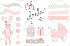 Oh Baby Girl Clip Art PNG by Angie Sandy on @creativemarket