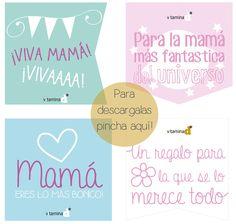 Etiquetas imprimibles para los regalos de mamá...
