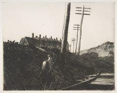 "Edward Hopper (American, 1882–1967), ""The Railroad,"" 1922."
