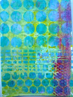 Gelli Plate mono-prints for art journals and more by Nicole Maki of Made by Nicole
