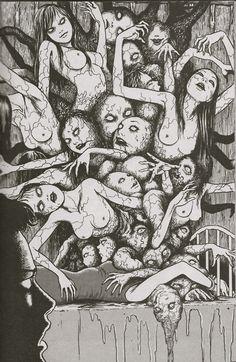 • scary art blood Black and White anime japanese creepy weird wtf horror gore b&w manga Macabre spooky arts terror freaky horrifying disturbing bloody japanese horror bizzare terrifying wtfchrisstuff •