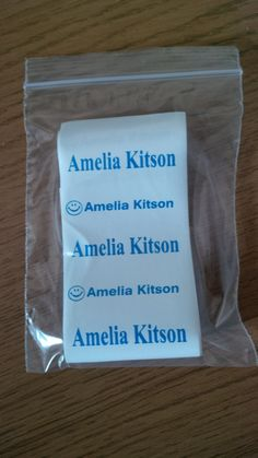 Iron On Name Labels available from £2.50 for 20.