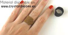 Macrame Jewelry Tutorial, Diy Jewelry, Jewelry Making, Beaded Jewelry, Ring Tutorial, Beading Tutorials, Bracelets, Tutorials, Loom Bracelets