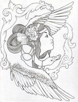 Leda and the Swan by Trissa