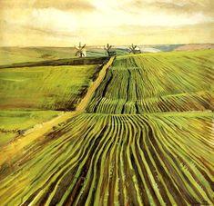 Zinaida Serebriakova (1884–1967), The Shoots of Autumn Crops, 1908