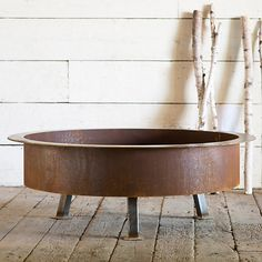 Raw Steel Fire Pit - like this but I am not sure about the staining