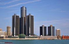 Old Downtown Detroit Photos | of downtown Detroit. Happens to be GM's HQ ...pic taken from Detroit ...
