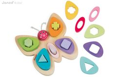 This brightly coloured I Wood Butterfly has 15 brightly coloured water painted wooden shapes and is great for developing motor skills and hand-eye co-ordination. The I Wood Butterfly will help children learn about shapes and colours while having f Wood Butterfly, Butterfly Shape, Butterfly Wings, Toddler Toys, Baby Toys, Kids Toys, Christmas Gift Guide, Christmas Gifts, Christmas 2015