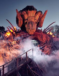 Alton Towers have released photos of their new Wicker Man ride Best Amusement Parks, Amusement Park Rides, Alton Towers Rides, Best Roller Coasters, Planet Coaster, Beach Rides, Places To Travel, Places To Visit, Horror Themes