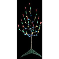 Nearly Natural 3-Ft Pre-Lit Slim Artificial Christmas Tree With ...