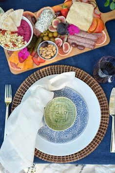 Summer Tapas Date night ready with Lenox Wonki Ware photographed by table and dine