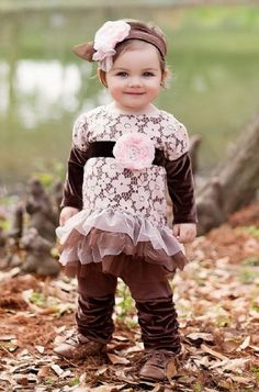 Vintage Chocolate Dipped Tunic Set