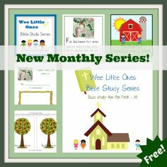 Wee Little Ones Bible Study Series Lesson 2 with FREE Printable - Enchanted Homeschooling Mom Family Bible Study, Bible Study For Kids, Bible Lessons For Kids, Preschool Bible, Preschool Curriculum, Homeschooling, Kindergarten, Bible Object Lessons, Bible Study Journal