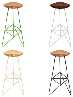 Acute Stools - modern - bar stools and counter stools - Brave Space Design