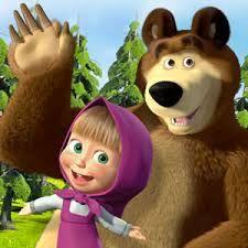 Risultati immagini per immagini masha e orso sagome