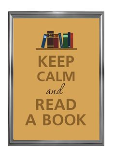 Keep calm and read a book by Agadart on Etsy