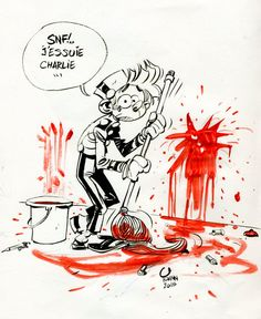 N° spécial vendredi de #Spirou en réponse au massacre de CharlieHebdo. #JeSuisCharlie #NousSommesCharlie  #Yoann