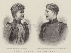 The Royal Betrothal. Illustration for The Illustrated London News, 11 June 1892.