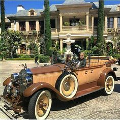 Going on a ride in my 1928 Packard on a beautiful Sunday morning at my Los Lagos, Granite Bay Estate