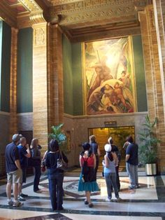 The Art Deco tour is an in-depth look at the history, materials, and style of Art Deco architecture popular in Los Angeles in the 1920s and 1930s.