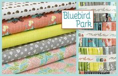 Wow!! This is CUTE! Bluebird Park by Kate and Birdie for Moda