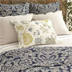 Pine Cone Hill Imperial Damask Ink Duvet Cover...pretty pillow