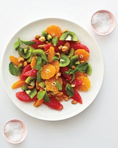 We're definitely adding this citrus salad with cashews and mint to our recipe file.