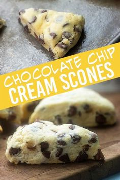 Low Unwanted Fat Cooking For Weightloss These Chocolate Chip Scones Are One Of My Favorite Treats For Breakfast Or An Afternoon Snack. Theyre Simple To Make And They Turn Out So Moist Every Time Scones Chocolate Chips, Desserts With Chocolate Chips, Chocolate Chip Recipes, Chocolate Chip Cookies, Chocolate Chip Dessert, Chocolate Cream, Buscuit Recipe, Best Dessert Recipes, Breakfast Recipes