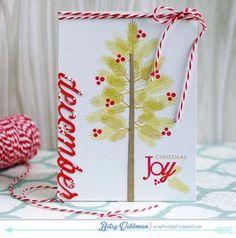 Christmas Joy Card by Betsy Veldman for Papertrey Ink (December 2014)