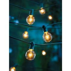 """[for the accoutrement] Target """"Home"""" globe string lights in clear, originally $12.99, currently on salt for $10.00"""