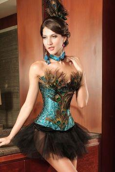 http://www.ebay.de/itm/Traumhaftes-4-teiliges-Korsagen-Kostum-PEACOCK-mit-echten-Federn-Pfau-Burlesque-/171874267143?var=