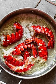 Lobster Scampi with Linguine - Cooking for Keeps Lobster Dishes, Lobster Recipes, Fish Recipes, Seafood Recipes, Great Recipes, Cooking Recipes, Gourmet Cooking, Fish Dishes, Pasta Dishes