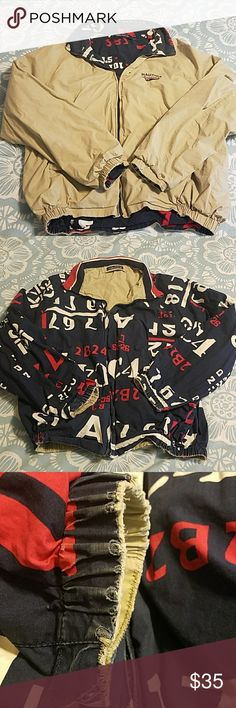 Nautica men's reversible sailing jacket Lightweight tan coat reversible into the Nautica Navy logo sailing print. Some wear on the ends of the sleeves as shown in pictures two and three. Vintage Clothing, Vintage Outfits, Sailing Jacket, Navy Logo, Fashion Tips, Fashion Design, Fashion Trends, Boho Shorts, Man Shop