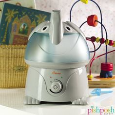 Once upon a time, there was an adorable elephant humidifier by Crane USA who provided congestion relief and comfort for children everywhere. #andtheylivedhappilyeverafter Shop our entire Crane Adorable Animals collection - priced at $44.99.  http://www.pishposhbaby.com/crane-adorable-cool-mist-humidifiers.html