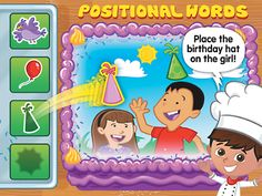 Listening & Following Directions Positional Words Interactive Game at Lakeshore Learning