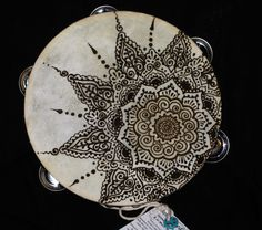 Asymmetrical Henna Tambourine 8 Mandala Drum Mehndi by Behennaed