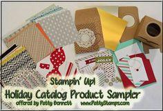 Holiday catalog product sampler