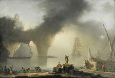 Joseph Vernet (1714-1789), Vue d'un Port avec Pêcheurs