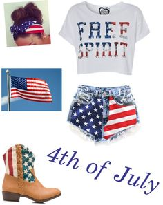 """""""4th if July outfit"""" by lauren-cooke ❤ liked on Polyvore"""