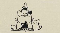 Studio Ghibli Creates Entertaining Illustrated Ads Featuring Cute, Lazy Kittens - DesignTAXI.com