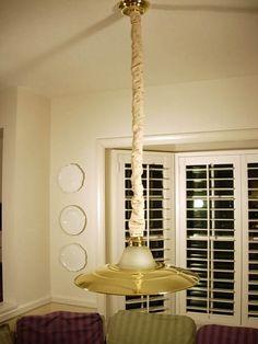 Capa para corrente de luminária pendente.