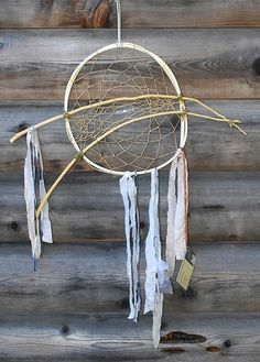 """Large Magical Willow Dream Catcher Wolf Run Ranch by WolfRunRanch Large Magical Willow Dream Catcher Wolf Run Ranch Wall Hanging Art Dreamcatcher (34a) 12"""" / 28"""" Healing Gift Shabby Chic"""