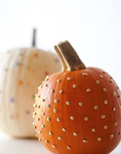 Painted and pushpin #pumpkins